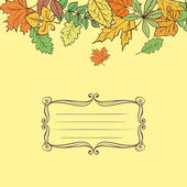 Vector Leaves Card — Stock Vector