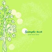 Vector iridescent spring card. Ornament Tree — Stock Vector