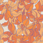 Vector Seamless pattern consist of Flowers — Stock Vector