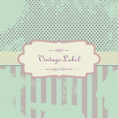 Vector Vintage background with Label — Stock Vector