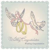Vector invitation wedding cardŒ — Stock Vector