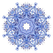 Clipart Watercolor. Doily round lace pattern — Stock Photo