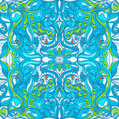 Loral Vector Colorful Ornate Seamless Pattern. — Stock Vector