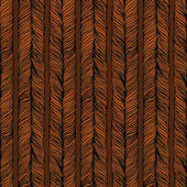 Vector Seamless Pattern consist of Plait. Hair — Stock Photo