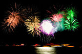 """""""Rhein in Flammen"""" - fireworks event at the river rhine, Germany — Stock Photo"""