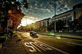Cidade de luz de fundo — Foto Stock