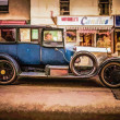 Oldtimer in Oban, paint edit — Stock Photo