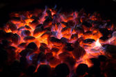 Fireplace with coals — Stock Photo