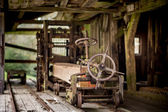 Sawmill with lumbers — Stock Photo