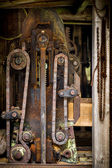 Sawmill old mechanism — Stock Photo