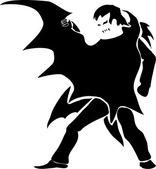 Vampire (dark silhouette) — Stock Vector