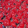 Turkish Flags in Republic Day Parade in Istanbul - Stock Photo