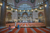 Inside The Suleymaniye Mosque — 图库照片