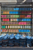 Colorful shop window — Stock Photo