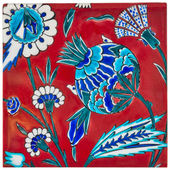 Iznik Pottery & ceramic Tiles — Stock Photo