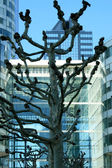 Trees and Buildings — Stock Photo