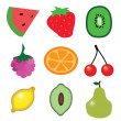 Stock Vector: Fresh Fruit