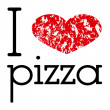 I love pizza — Stock Vector