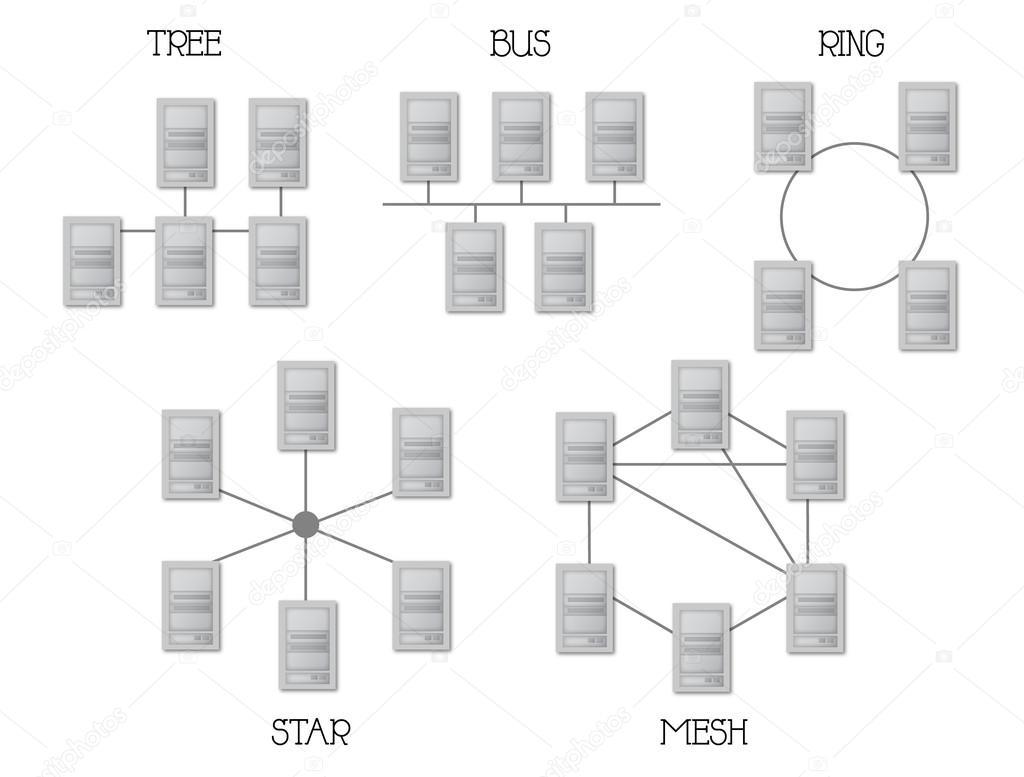 网络拓扑结构 — 图库矢量图像08