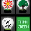 Royalty-Free Stock Vector Image: Think green!