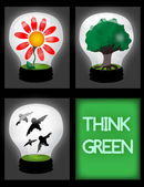 Think green! — Stock Vector