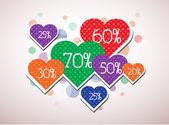 Valentine's discounts — Stock Vector