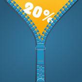 Zipper discount — Stock Vector