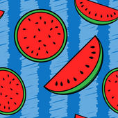 Watermelon seamless background — Stock Vector