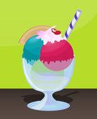 Sweet Sundae — Stock Vector