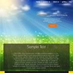 Website business background, nature design — Stock Vector