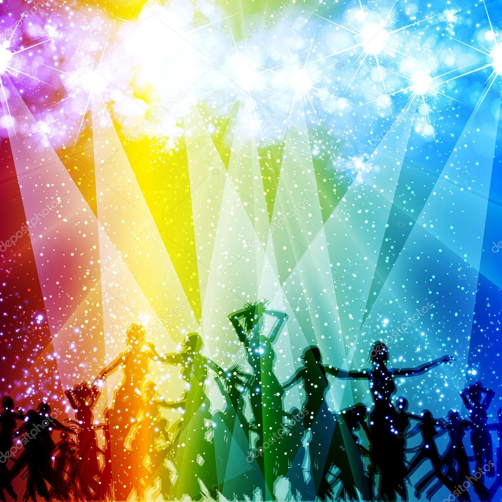 Light stage background with dancing u2014 Stock Vector u00a9 zuza811 #14051596
