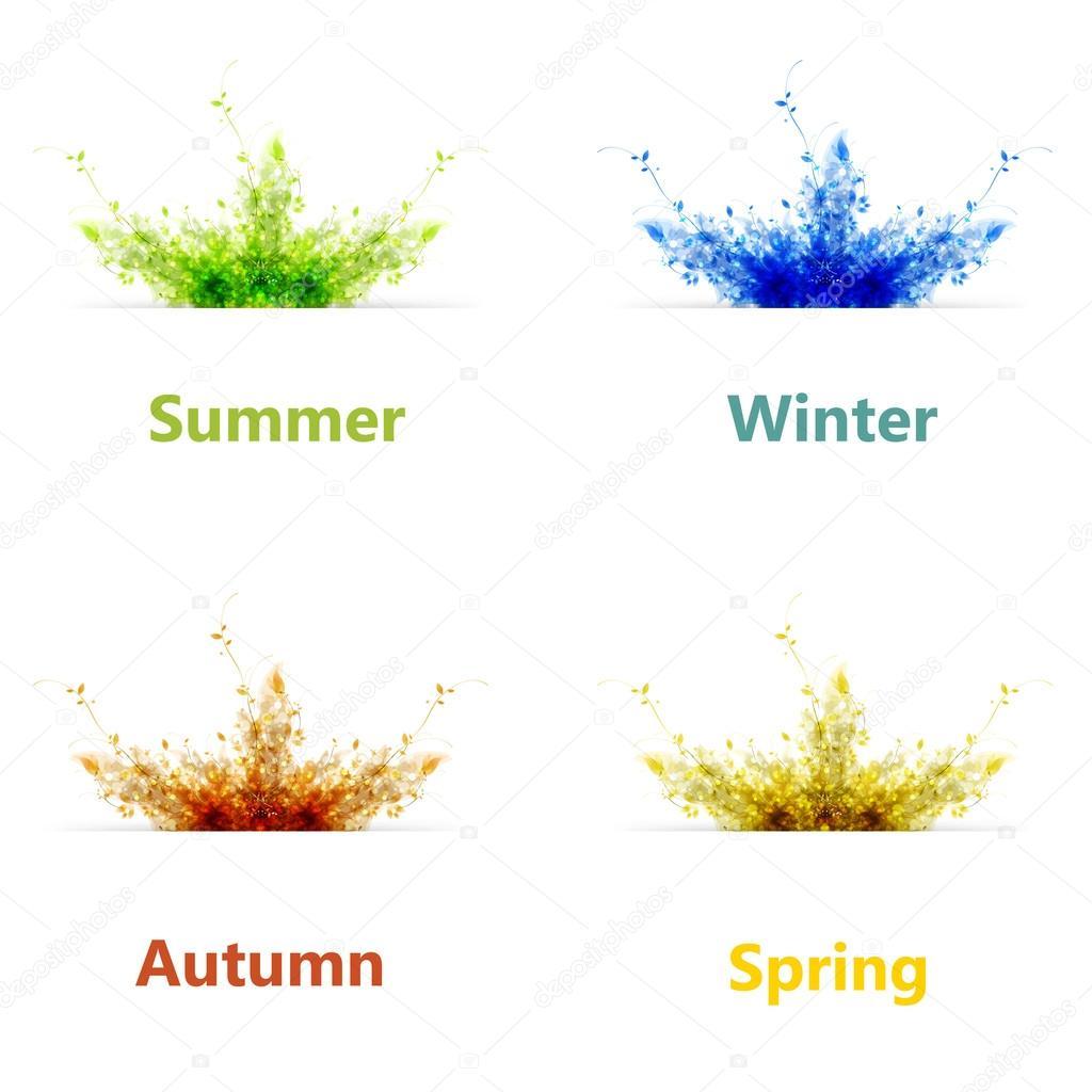 Background Season Season Vector Background
