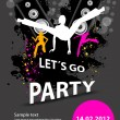 Party design template — Stock Vector
