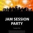 Stock Vector: Party, jam session