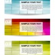 Set of three color vector banner — Stock Vector