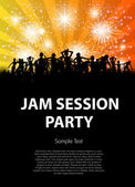 Party, jam session — Stock Vector