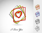 Set of vector heart icon, you can change heart — Stock Vector