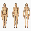 Weight loss woman, 3d render — Stock Photo