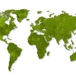 Ecology world map, grass design — Stock Photo