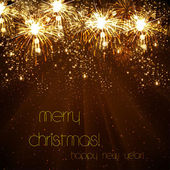 Mutlu yeni yıl vektör kutlama arka plan, eps10 — Stok Vektör