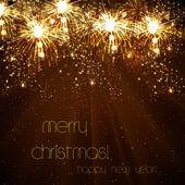 幸福な新しい年のベクトルのお祝い背景、eps10 — ストックベクタ