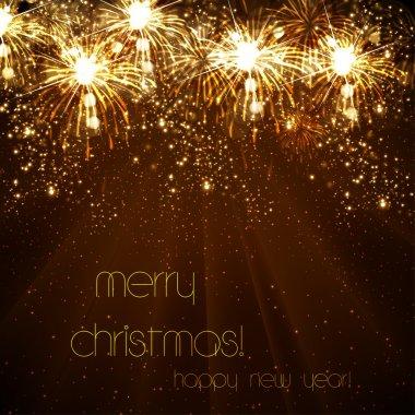 Happy New Year vector celebration background, eps10