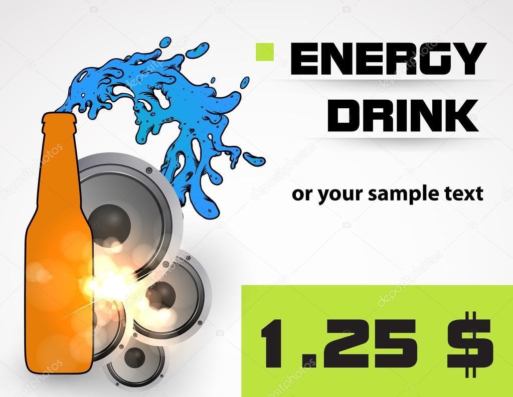 能量饮料瓶 — 矢量图片作者 zuza811