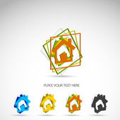 Set of vector home icon — Stock Vector