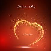 Valentines light card — Stock Vector