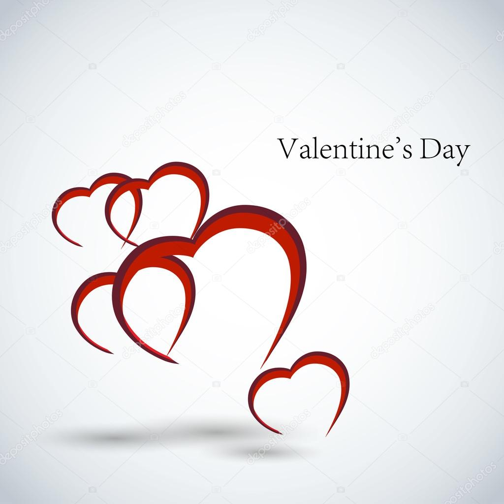 Valentines day card vector background — Stock Vector #16259883