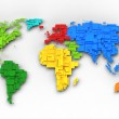World map of rainbow colors, cube design — Stock Photo #20692315