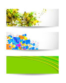 Set of three color vector background — Stock Vector