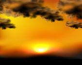 Ilustracja wektorowa niebo zachód słońca, słońce łatwo usunąć — Wektor stockowy