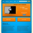Tablet website template, easy editable — Stock Vector